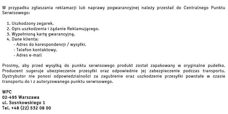 Gwarancja Police