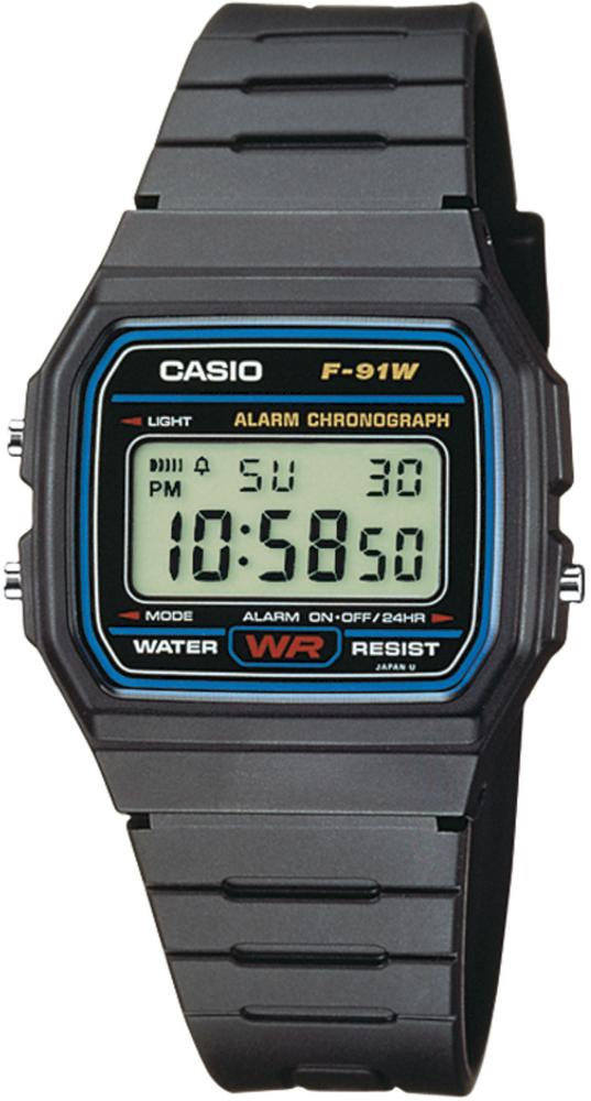 zegarek Casio F-91W-1YER-POWYSTAWOWY - zdjęcia 1