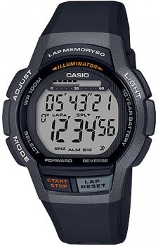 Zegarek unisex Casio WS-1000H-1AVEF